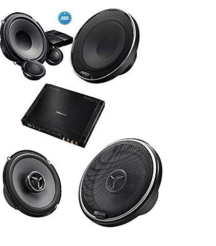 Kenwood XR400-4 eXcelon Reference Fit 4 Channel Digital Power Amplifier+ Kenwood KFCX174 Excelon 80W RMS speakers +Kenwood Excelon XR-1700P 6-3/4