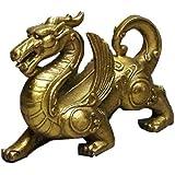 風水 魔よけ 龍の置物 銅製 ヤアズ(睚眦) 小
