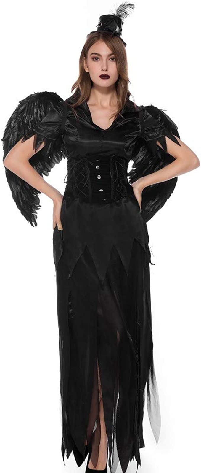 OPAKY Vestidos De Fiesta Mujeres Halloween Bruja Mágica Vestido de ...