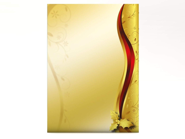 paperandpicture.de - Ornamenti natalizi, 100 fogli, 110 g/mq