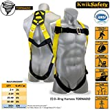 KwikSafety TORNADO 1D Fall Protection Full Body Safety Harness | OSHA Approved ANSI Compliant Industrial Roofing Tool Personal Protection Equipment | Construction Carpenter Scaffolding Contractor