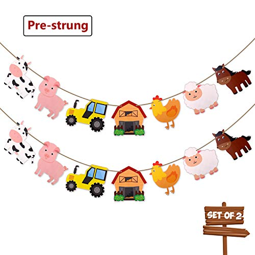 Faisichocalato Farm Animals Banner Barnyard Themed Party Decorations Birthday Baby Shower Party Supplies Set of - Animals Barnyard Farm