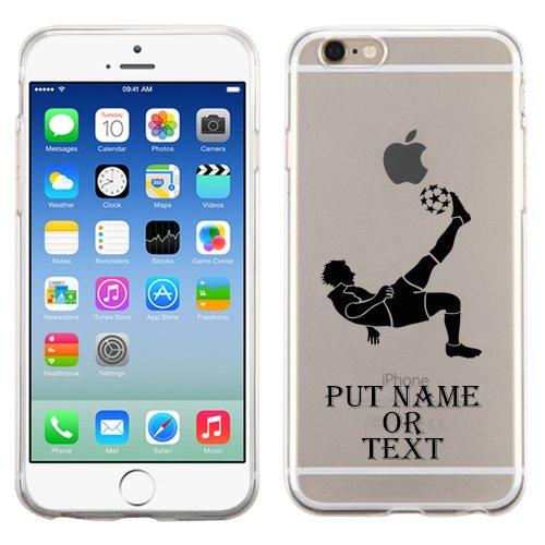 Iphone 6 Soccer Custom Glossy Transparent Clear Candy Skin Cover (Clear)