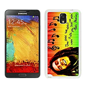 Genuine Bob Marley 01 White Samsung Galaxy Note 3 Screen Cellphone Case Lovely and Newest Design