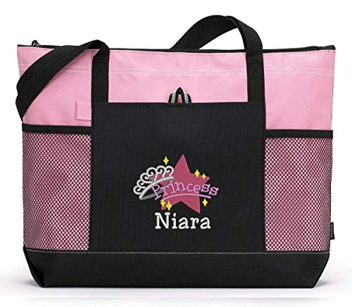 Princess Baby Girl Alternative Diaper Bag Personalized Embroidered Tote ()