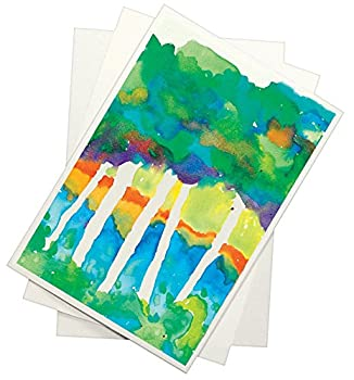 Sax 90 pound Watercolor Paper for Beginning Artists - 9 x 12 inches - Pack of 100