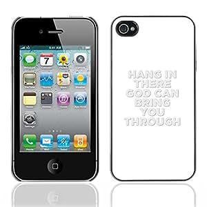 Paccase / Dura PC Caso Funda Carcasa de Protección para - BIBLE Hang In There - Apple Iphone 4 / 4S