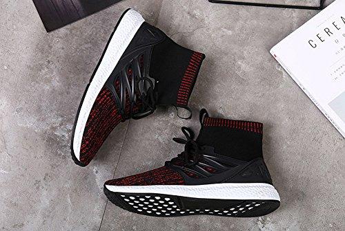 Shoes Running by Transform Men's JiYe Sneakers Red Fashion Flyknit Free A4wEwq