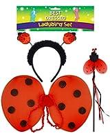 3 Piece Ladybird Dress Up Set by Henbrandt