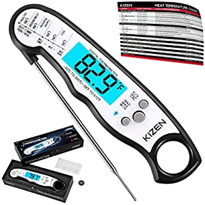 Instant Read Meat Thermometer - Best Waterproof Ultra Fast Thermometer