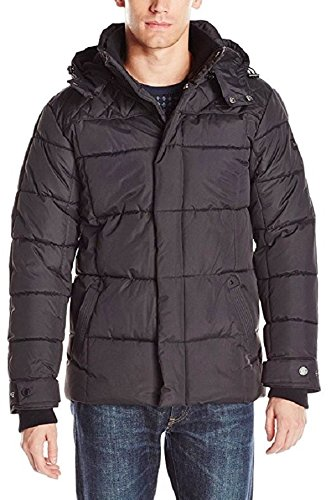 Ben Sherman Men's Quilted Bubble Jacket, Black, (Quilted Bubble Jacket)