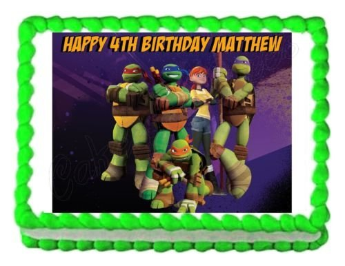 TMNT Teenage Mutant Ninja Turtles party edible cake sheet frosting cake -