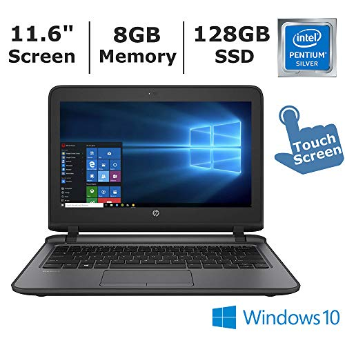 2019 New HP ProBook 11 EE G 11.6″ HD Touchscreen Laptop Computer, Intel Pentium 4405U 2.10GHz Dual Core Processor, 8GB Memory, 128GB SSD, No DVD, HDMI, WiFi 802.11ac, Bluetooth 4.2, Win 10 Pro (Gray)