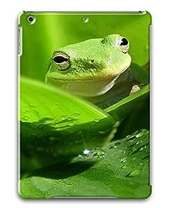 iPad Air Green frog PC Custom iPad Air Case Cover Black