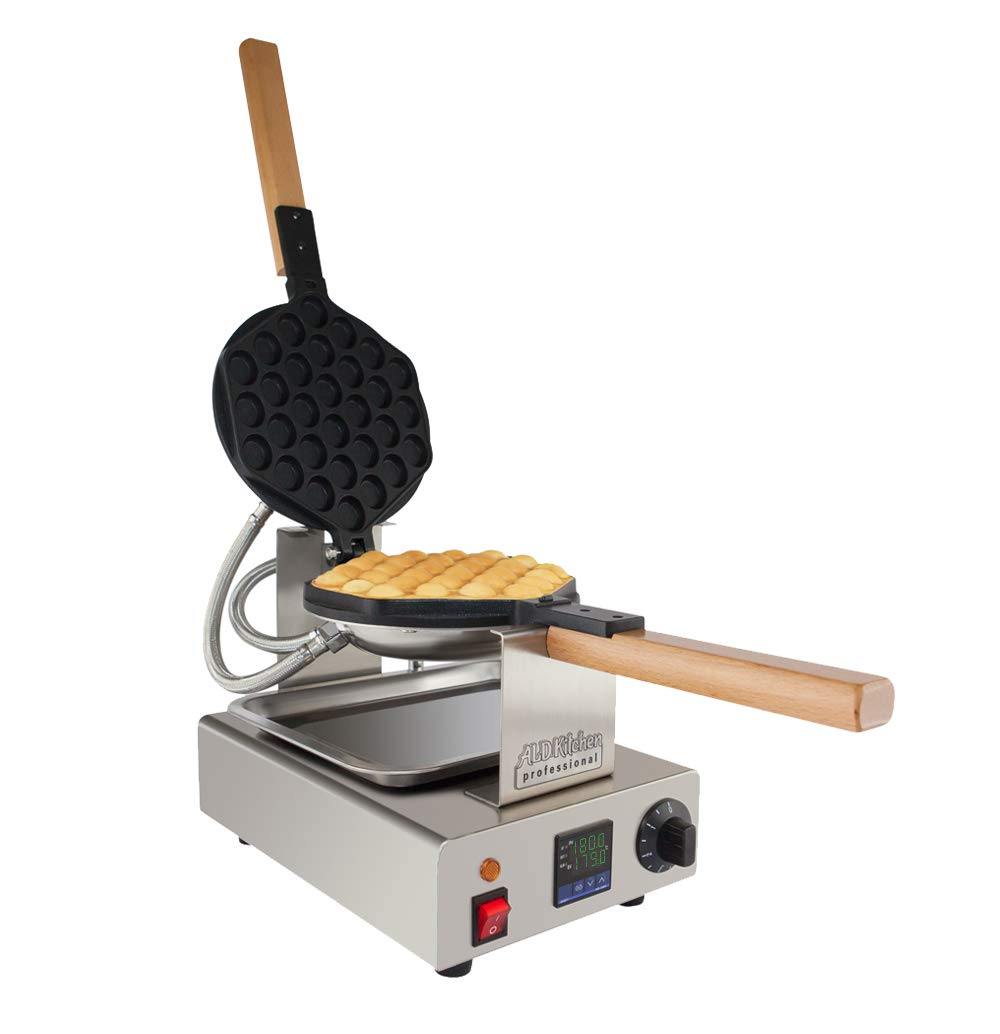 TOP Version Puffle Waffle Maker Professional Rotated Nonstick (Grill/Oven for Cooking Puff, Hong Kong Style, Egg, QQ, Muffin, Cake Eggettes and Belgian Bubble Waffles) (Digital Thermostat) ALD Kitchen Professional NP-547