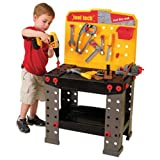 Constructive Playthings CPX-660 CP Toys Pretend Play Plastic Tool Tech Workbench with Tools & Accessories/ 148 pc. Set