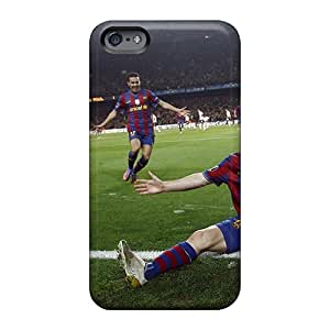 Great Hard Cell-phone Case For Apple Iphone 6s Plus With Allow Personal Design Realistic Sport Football Player Lionel Messi Series ElijahFenn