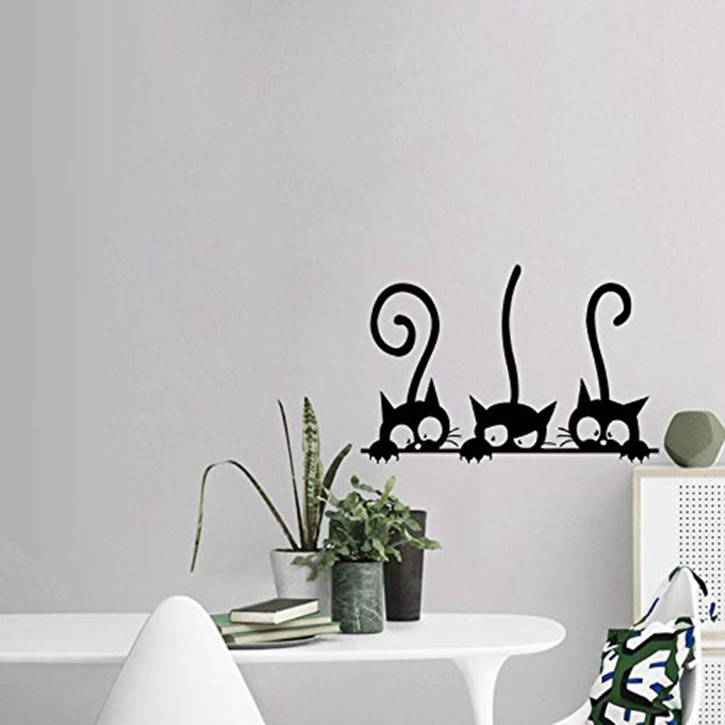 Boger Adhesive Cute Cartoon Cat Wall Stickers Bedroom Livingroom Wall Decals Home Wall DIY Decors by Boger (Image #4)