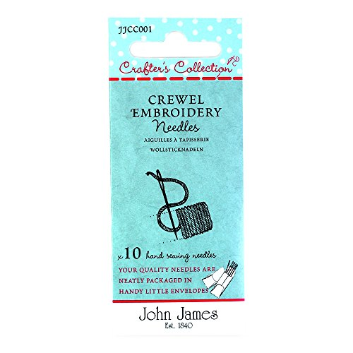 John James Crafter's Collection Crewel Embroidery Needles x 10 sizes 18,20,22