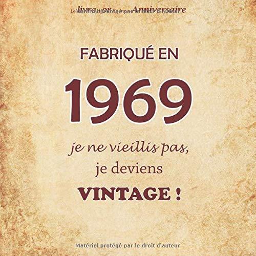 Le Livre Dor De Mon Anniversaire Fabriqué En 1969 Je Ne