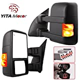 Ford Towing Mirrors for 1999-2007 Ford F250 F350 F450 F550 Super Duty Tow Mirrors Power Heated with Signal Light Side Mirrors