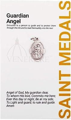 Amazon.com: Medalla de Santo y Santo de 1.0 in con tarjeta ...