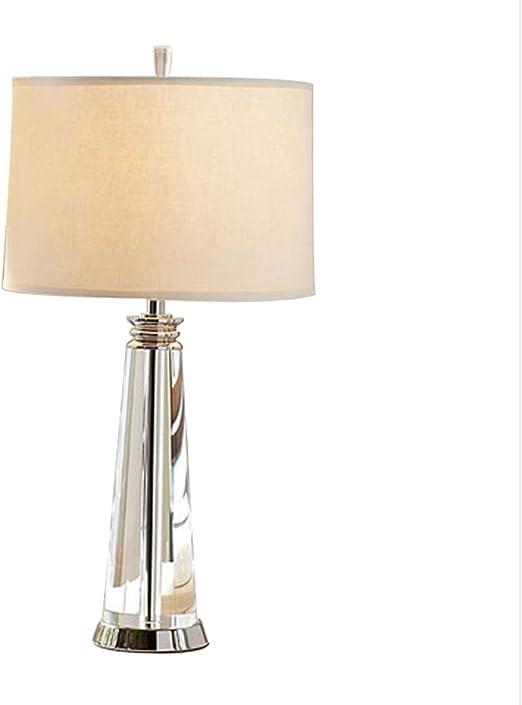 Ajustement de bouton de lampe en cristal, lampe de table en
