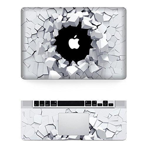 3D wall Macbook Decals Totoro Macbook Skin Decal Stickers Macbook Top Decal Front Stickers for Apple Macbook