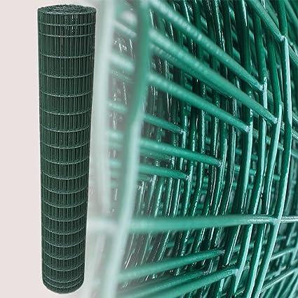 25 Metros Cercado (rejilla Valla Valla metálica verde Altura 200 cm Malla 5 x 10 cm Jardín Valla: Amazon.es: Jardín