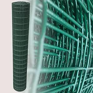 25 Metros Cercado (rejilla Valla Valla metálica verde Altura 180 cm Malla 5 x 10 cm Jardín Valla: Amazon.es: Jardín