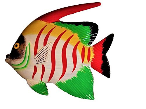 LARGE 10'' x 7.5'' ACRYIC RESIN DECORATIVE INDOOR/OUTDOOR TROPICAL FISH WALL DECOR by All Seas Imports