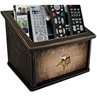 Fan Creations N0765-MIN Minnesota Vikings Woodgrain Media Organizer, Multicolored