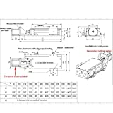Electric CNC Linear Rail 200mm Stroke Cross Sliding Table SFU1605 Ballscrew C7 Slide Module for CNC Engraving Machine