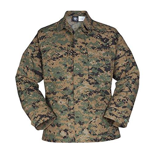 Propper Uniform BDU Coat Long Length 60/40 Cotton/Polyester Ripstop Woodland Digital ()