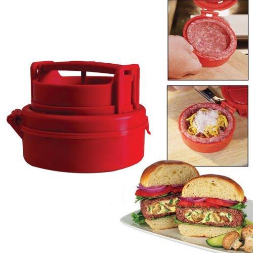 MAZIMARK--Hamburger Burger Press Machine Meat Pizza Stuffed Patty Maker Kitchen Cooking To