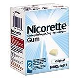 Nicorette Nicotine Gum, 2mg, Original 110 ea Pack of 6