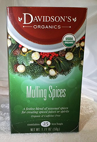 Mull Spice - Tea Bag Box of 25, Mulling Spices Organic