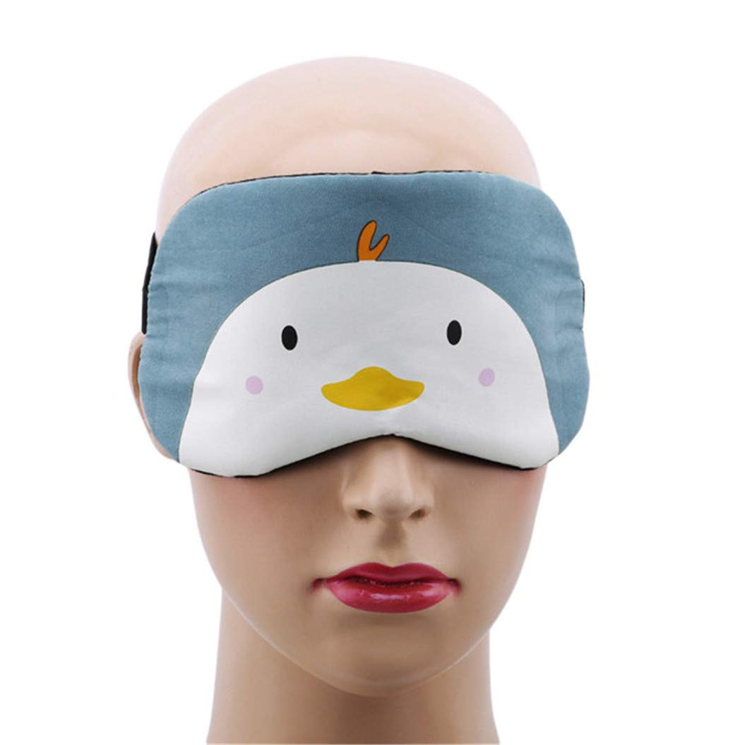 LZIYAN Cartoon Sleep Eye Mask Cute Animal Pattern Eye Mask Blindfold Eye Patch Sleeping Eyeshade Travel Shade Cover,Chick by LZIYAN (Image #3)