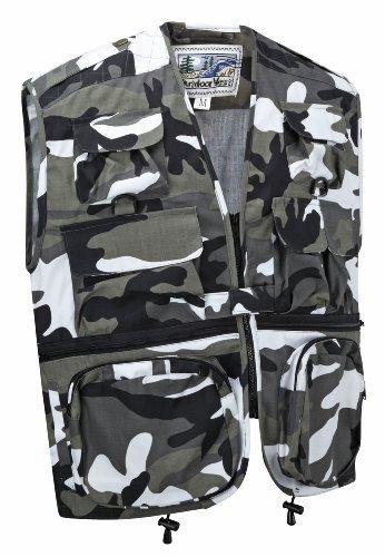 Camouflage Multi-Pocket Utility Vest Waistcoat Gilet (M, Urban)