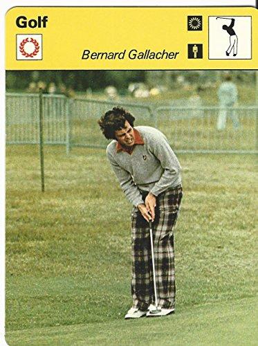 1977-79 Sportscaster Card, 76.10 Golf, Bernard Gallacher, Scotland