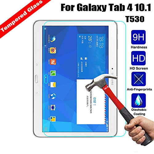FastSun Tempered Glass Screen Protector for Samsung Galaxy Tab 3 / Tab 4 / Tab S3 / S4 / Tab E (Samsung Galaxy Tab 4 10.1 T530 T531 T535 T537) (Compare Galaxy Note 3 And Galaxy S4)