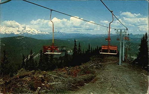 White Pass Chair Lift Arlington, Washington Original Vintage Postcard