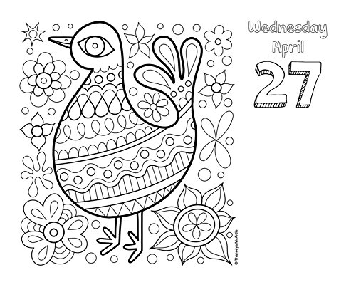 Posh Coloring 2016 Day To Day Calendar For Fun