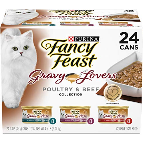 Purina Fancy Feast Gravy Lovers Poultry & Beef Feast Collection Wet Cat Food Variety Packs