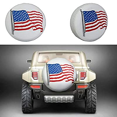 Minisoo Spare Tire Cover PVC Leather Waterproof Dust-Proof Universal Spare Wheel Tire Cover Fit for Jeep,Trailer, RV, SUV and Many Vehicle 14