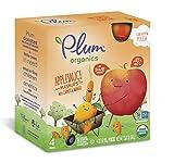 Plum Organics Mashups, Organic Kids Applesauce, Carrot & Mango, 3.17 ounce pouch, 4 count (Pack of 6)