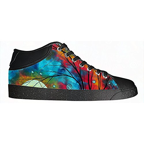 Custom kunst baum gem?lde Womens Canvas shoes Schuhe Lace-up High-top Footwear Sneakers B