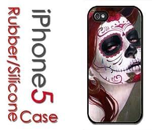 iPhone 5 Rubber Silicone Case - Sugar Skull Girl Day of Dead Dia de Los Muertos Girl