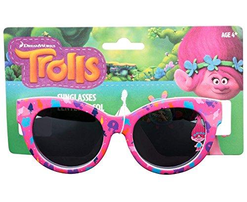 Dreamworks Trolls Poppy Love Fun Time Sunglasses - 100% UVA & UVB Protection (Pink Poppy Fun) by Dreamworks