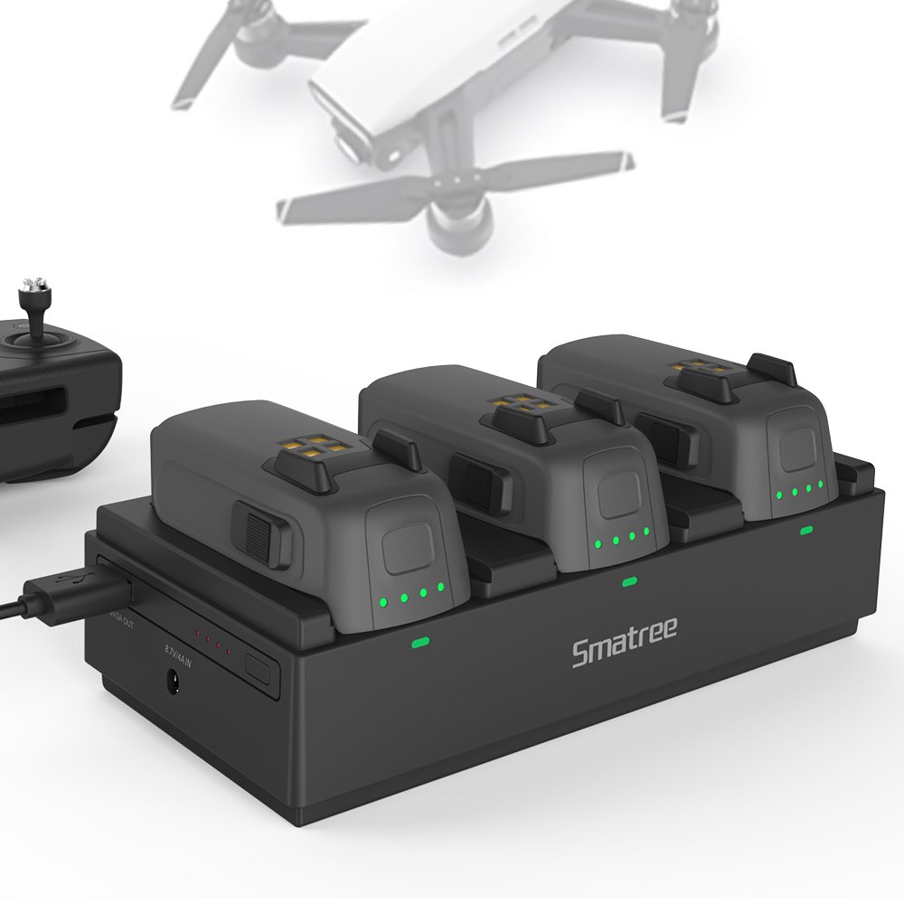 Smatree Portable Charging Station Compatible with DJI Spark Drone Intelligent Battery (Spark Battery not Included)